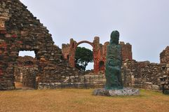 Within grounds of a ruined Priory. Royalty Free Stock Photography