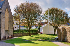 The grounds of St Mary's Church, Tenby. Stock Photo