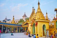 The grounds of Sule Pagoda, Yangon, Myanmar Royalty Free Stock Image