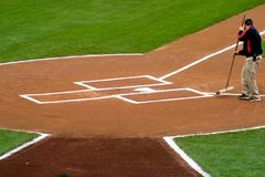 Groundskeeper Home Plate royalty free stock photos