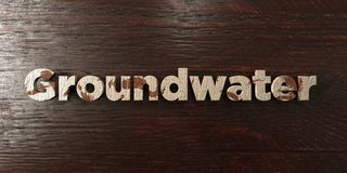 Groundwater - grungy wooden headline on Maple  - 3D rendered royalty free stock image Stock Photography