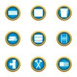 Groundwork icons set, flat style. Groundwork icons set. Flat set of 9 groundwork vector icons for web isolated on white background Stock Photos