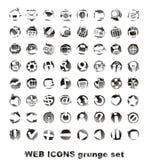 grounge图标设置了万维网 库存照片