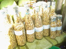 Groungnut en botella Foto de archivo libre de regalías