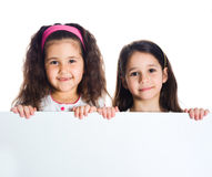 Grouop of smily kids. Over white background Stock Photos