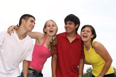 Group. Of happy smiling friendly youth royalty free stock photo
