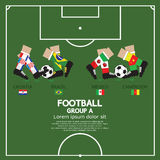 Group A Of 2014 Football (Soccer) Tournament. Group A Of 2014 Football (Soccer) Tournament Vector Illustration Royalty Free Stock Images