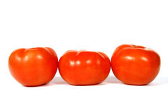 Group of 3 Tomatoes. A small grouping of 3 tomatoes royalty free stock photography