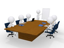 Group of 3d persons on the meeting. On white Stock Photos