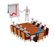 Group of 3d  persons on the meeting. On white background Royalty Free Stock Images