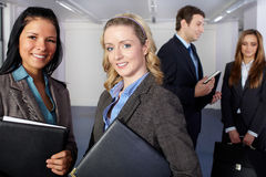 Group of 4 young business people Royalty Free Stock Photo