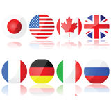 Group of 8 countries Royalty Free Stock Photography