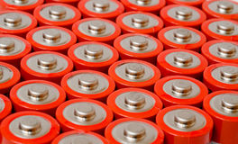 Group of AA Batteries Royalty Free Stock Photo