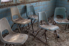 Group abandoned chairs Royalty Free Stock Photos