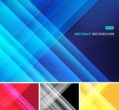 Group abstract image that depicts technology with overlapping di. Agonal lines. Vector illustration Stock Image