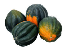 A group of acorn squash. Isolated on white Stock Photo