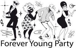 Forever Young Party Stock Photo