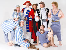 Group of actors in costume Royalty Free Stock Images