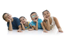 Group of Adorable Happy Kids stock photos