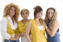 Group of adult females. With white background Royalty Free Stock Photography