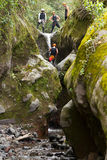 Group Of Adult Men On Canyoning Trip Stock Images