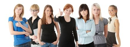 Group of adult womans Royalty Free Stock Photo