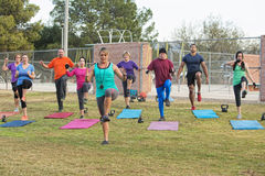 Group of Adults Exercising Royalty Free Stock Image