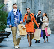 Group of adults with shopping bags Stock Photos