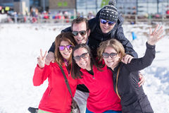 Group of adults smiling at camera Stock Photography