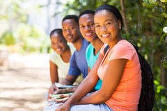 Group african american friends Stock Images