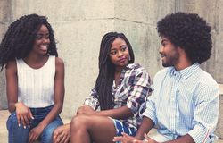 Group of african american people hanging out Stock Photography