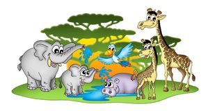 Group of African animals royalty free illustration