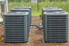 Group of Air Conditioning Units Royalty Free Stock Photos