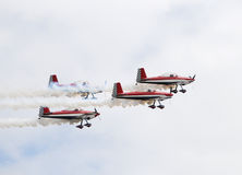 Group of airplanes Stock Photo