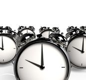 Group of alarm clocks. Stock Photos