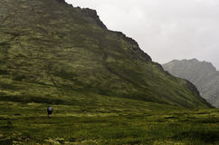 Group of Alaskan hikers Royalty Free Stock Images