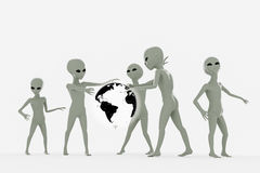 Group of aliens Stock Photos
