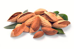 Group of almond nuts Stock Photo