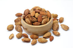 Group of almond nuts  Stock Photography
