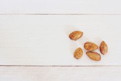Group of almonds Stock Images