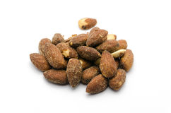 Group of almonds Royalty Free Stock Images