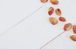 Group of almonds Royalty Free Stock Image