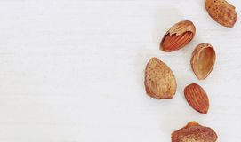 Group of almonds Stock Photography