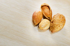 Group of almonds . stock image