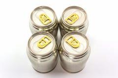 Group of aluminium tin can. Stock Photos