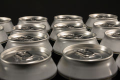 Group of aluminum beverage cans Stock Photos