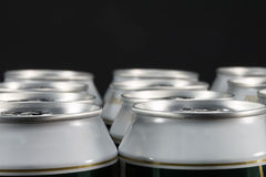 Group of aluminum beverage cans Stock Photo