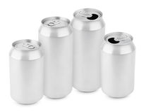 Group of aluminum cans Royalty Free Stock Images