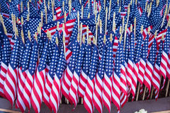 Group of American Flags Stock Photo