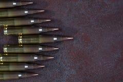 Group of  ammunition geometrically placed Stock Image